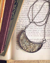 Load image into Gallery viewer, Crescent Moon Necklace with Babies Breath