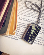 Load image into Gallery viewer, Mint and Black Butterfly Necklace