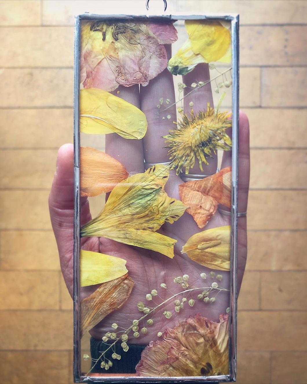 Yellow Mixed Botanical Mini Wall Hanging