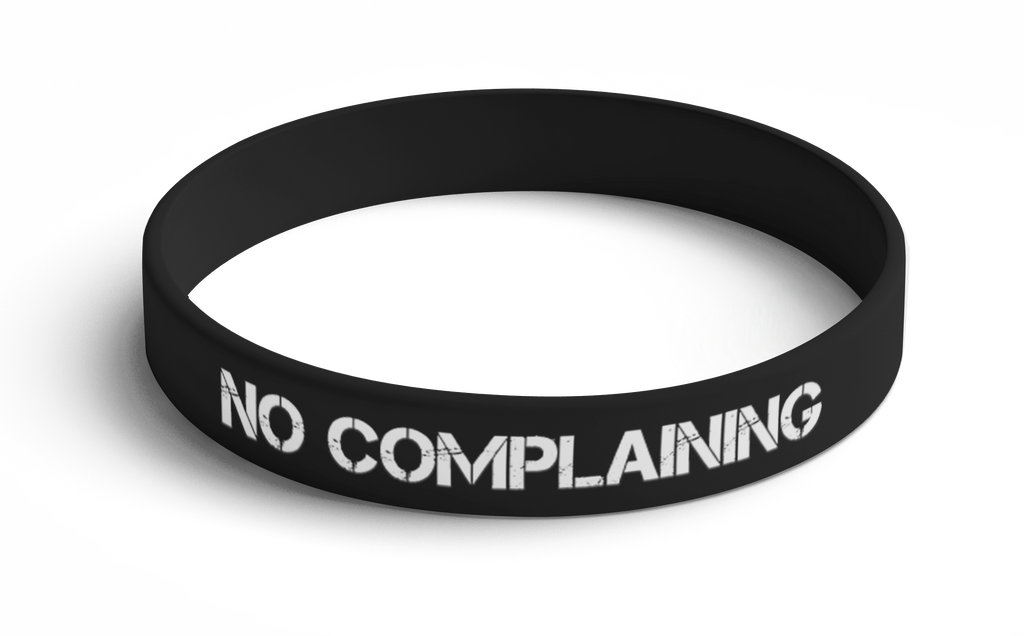 Wristband No Complaining (Black) 5 Pack
