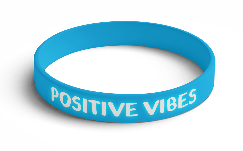 Wristband Positive Vibes (Blue) 5 Pack