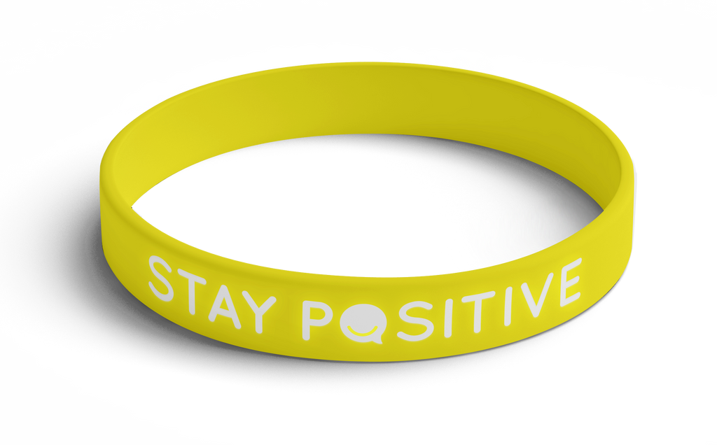 Wristband Stay Positive  (Yellow) 5 Pack