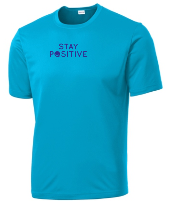 Stay Positive - Men's Dri-Fit - Atomic Blue