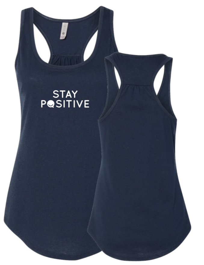 Stay Positive - Women's Tank - Midnight Navy