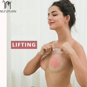 Fashion Push Up Bra Tape Adhesive Silicone Breast Petals Instant Breast Lift Sexy Breast Enhancers For Lady Dress Bare Lifts