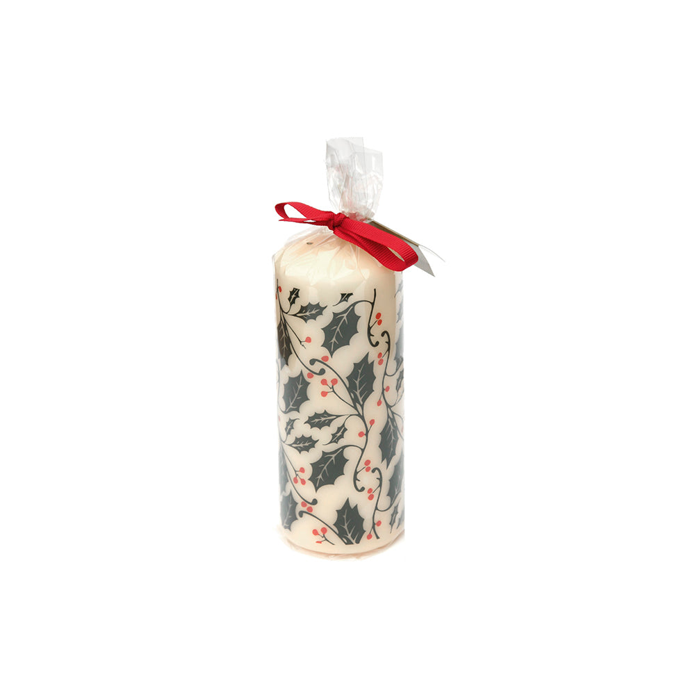 Holly & Berry Pillar Candle