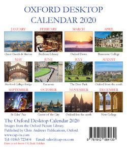 Oxford Large Desktop Calendar - 2020