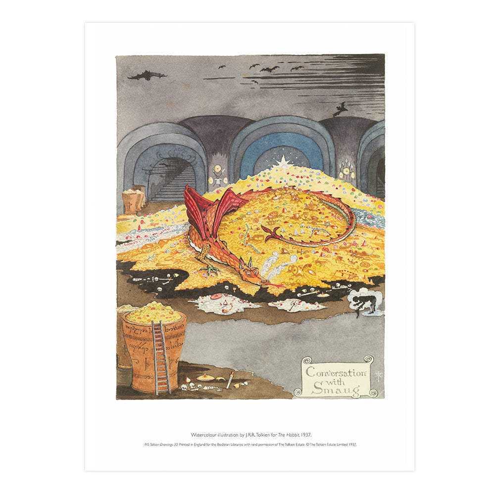 Conversation with Smaug A2 Art Print Rolled
