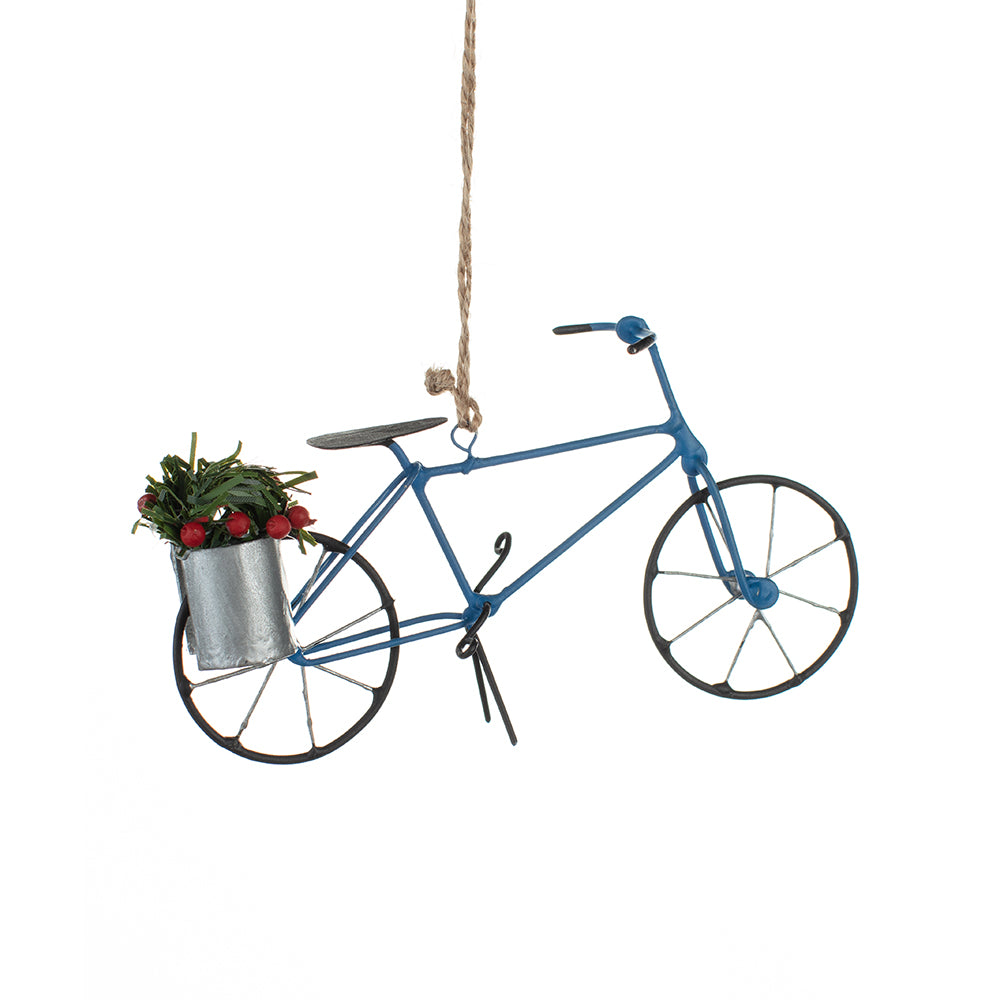 Blue Bike Decoration