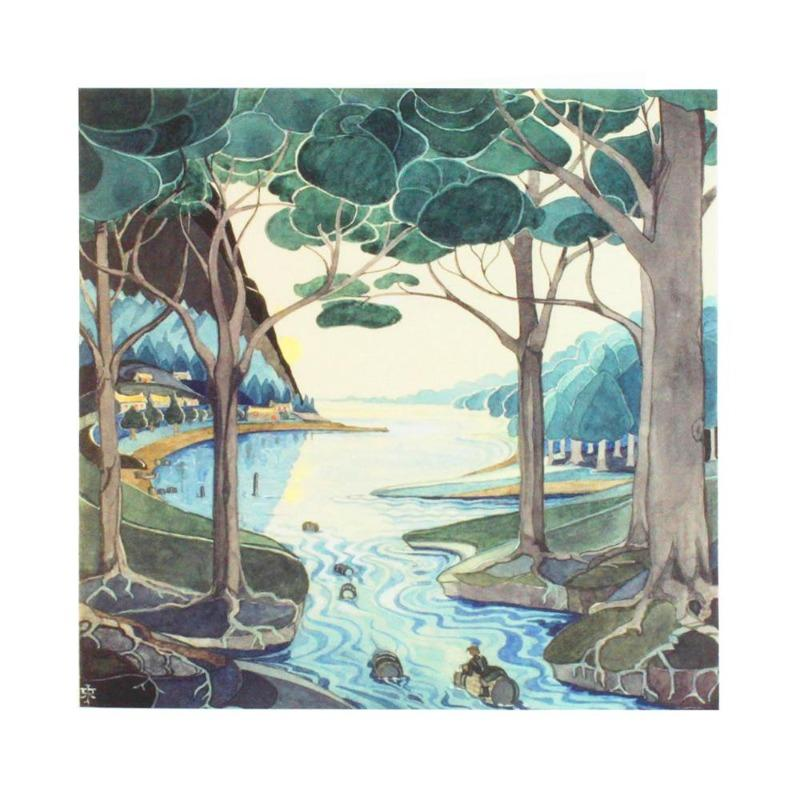Bilbo Comes to the Huts of the Raft-elves Notecard