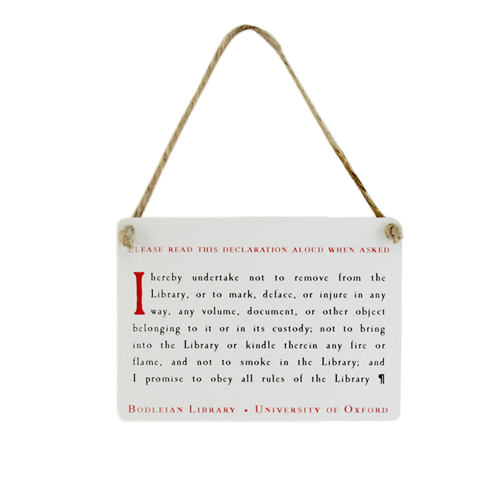 Bodleian Oath Mini Metal Sign