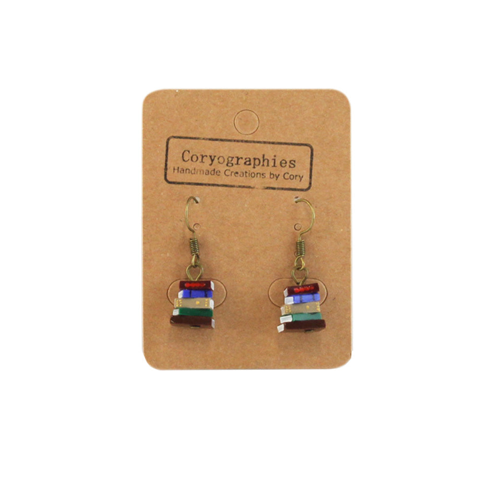 Book Stack Earrings