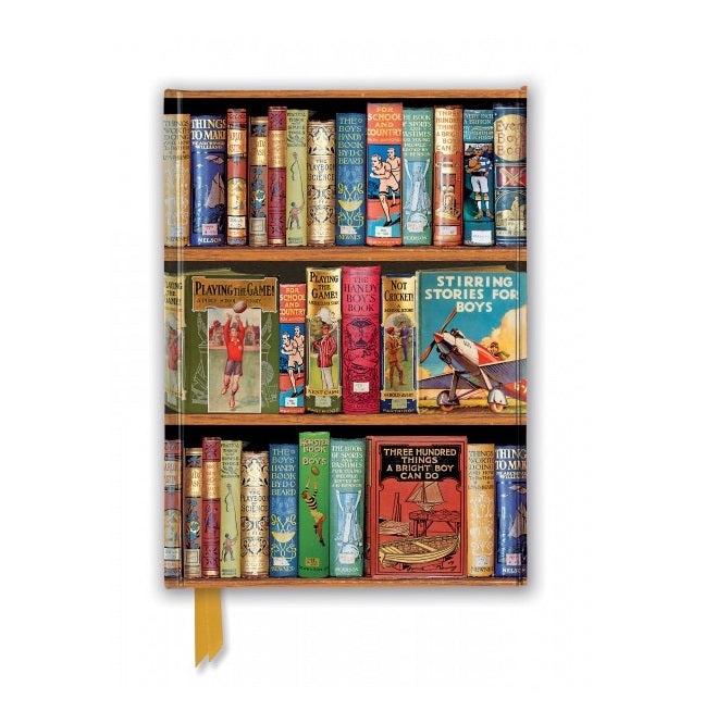 'Boys Adventures' Bookshelves A5 Foil Notebook