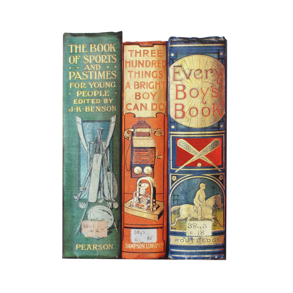Every Boys Book Spines Greetings Card