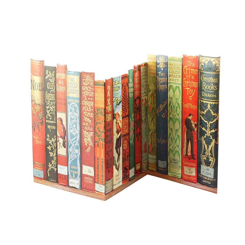 Mantelpiece Bookspines Christmas Card Pack