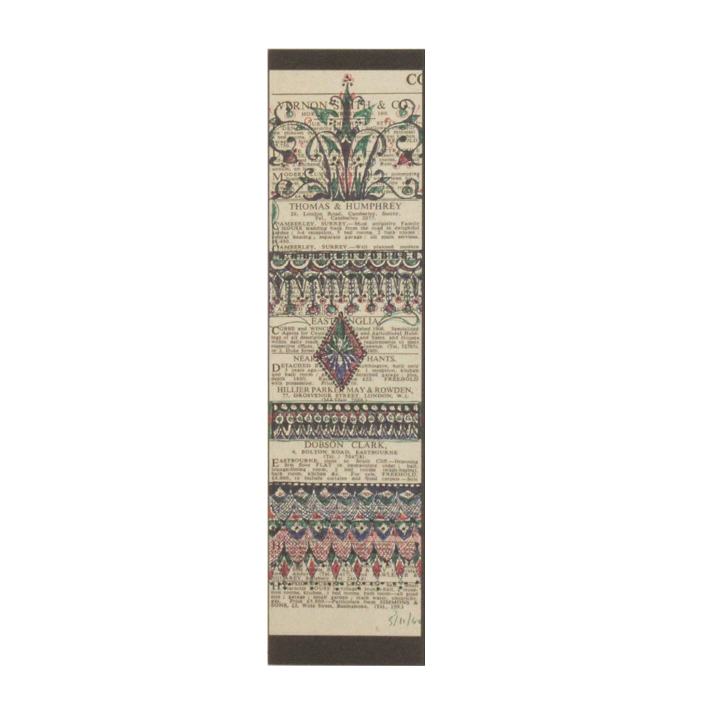 Designs on Newspaper Paper Bookmark