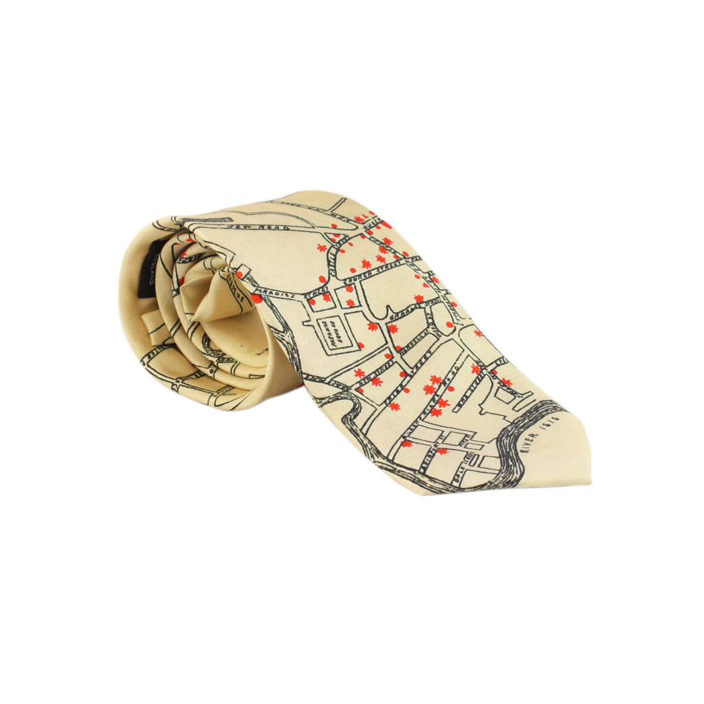 Oxford Drinks Map Tie