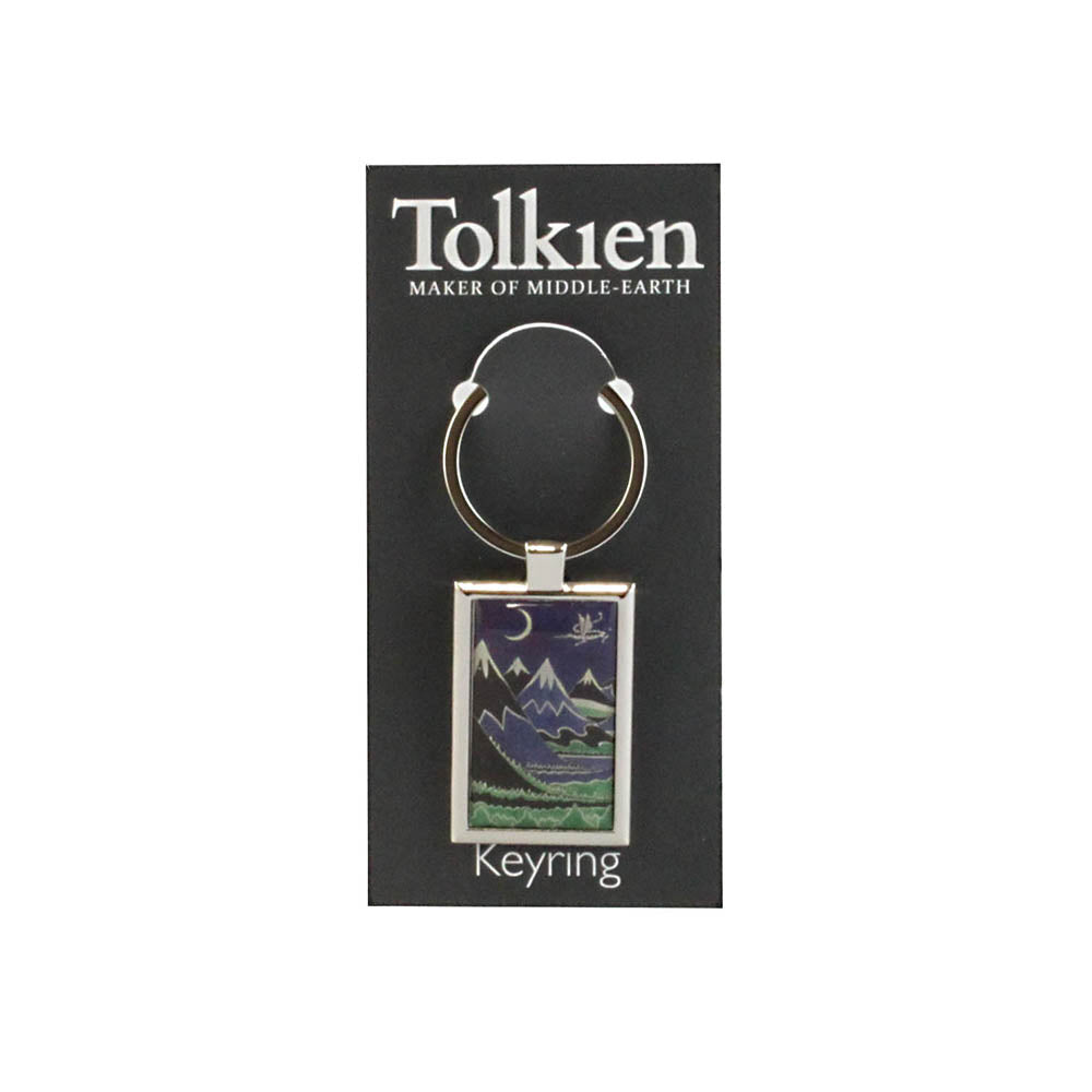 The Hobbit Dust Jacket Keyring