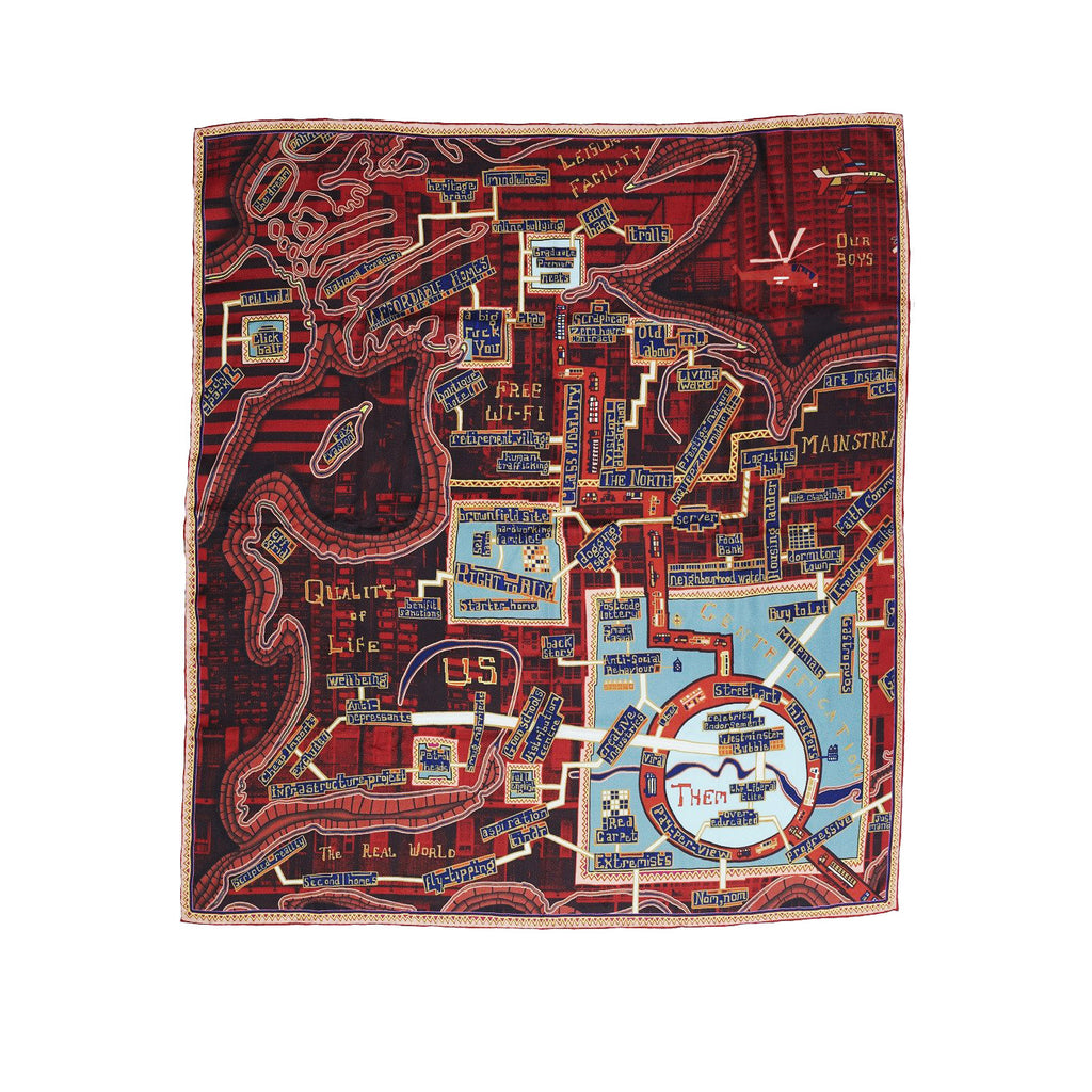 Grayson Perry Scarf - Red Carpet