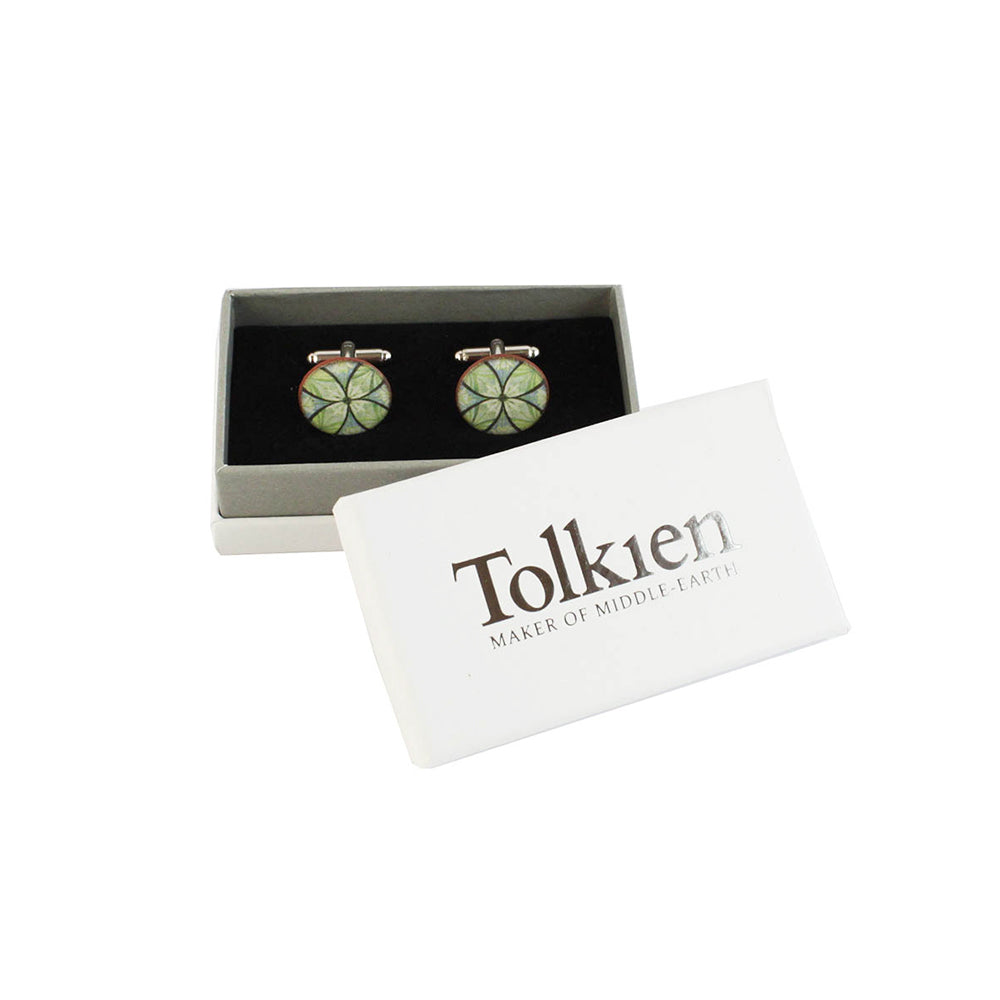 Device for Lúthien Tinúviel (Green) Ceramic Cufflinks