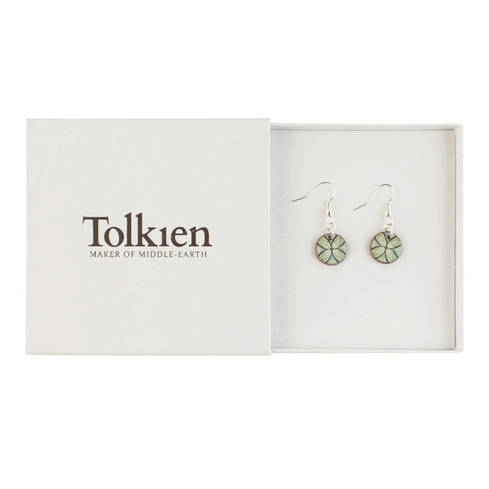 Device for Lúthien Tinúviel (Green) Ceramic Drop Earrings