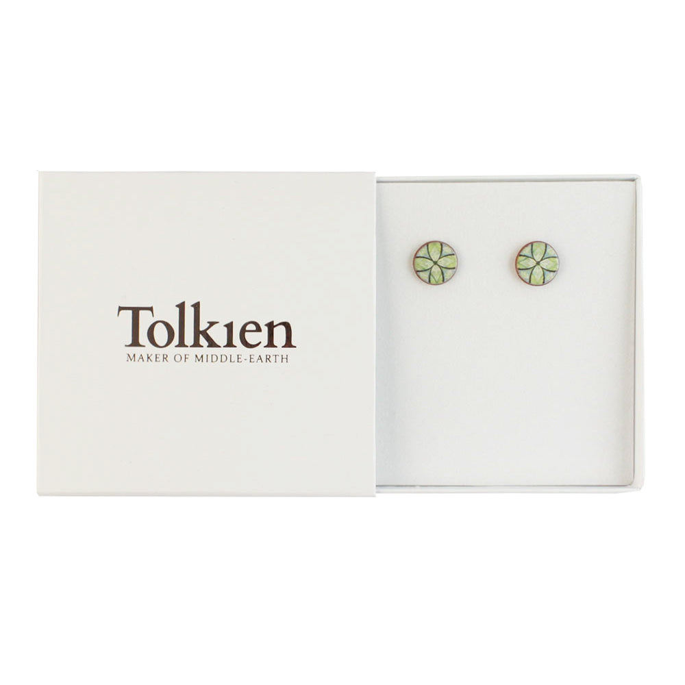 Device for Lúthien Tinúviel (Green) Ceramic Stud Earrings