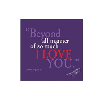 I Love You Shakespeare Quote Greetings Card