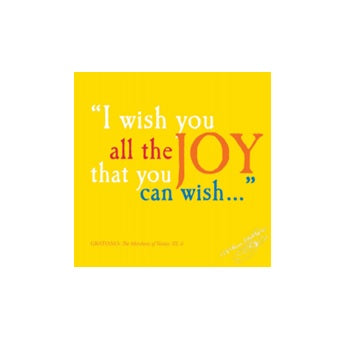 I Wish You All the Joy Shakespeare Quote Greetings Card