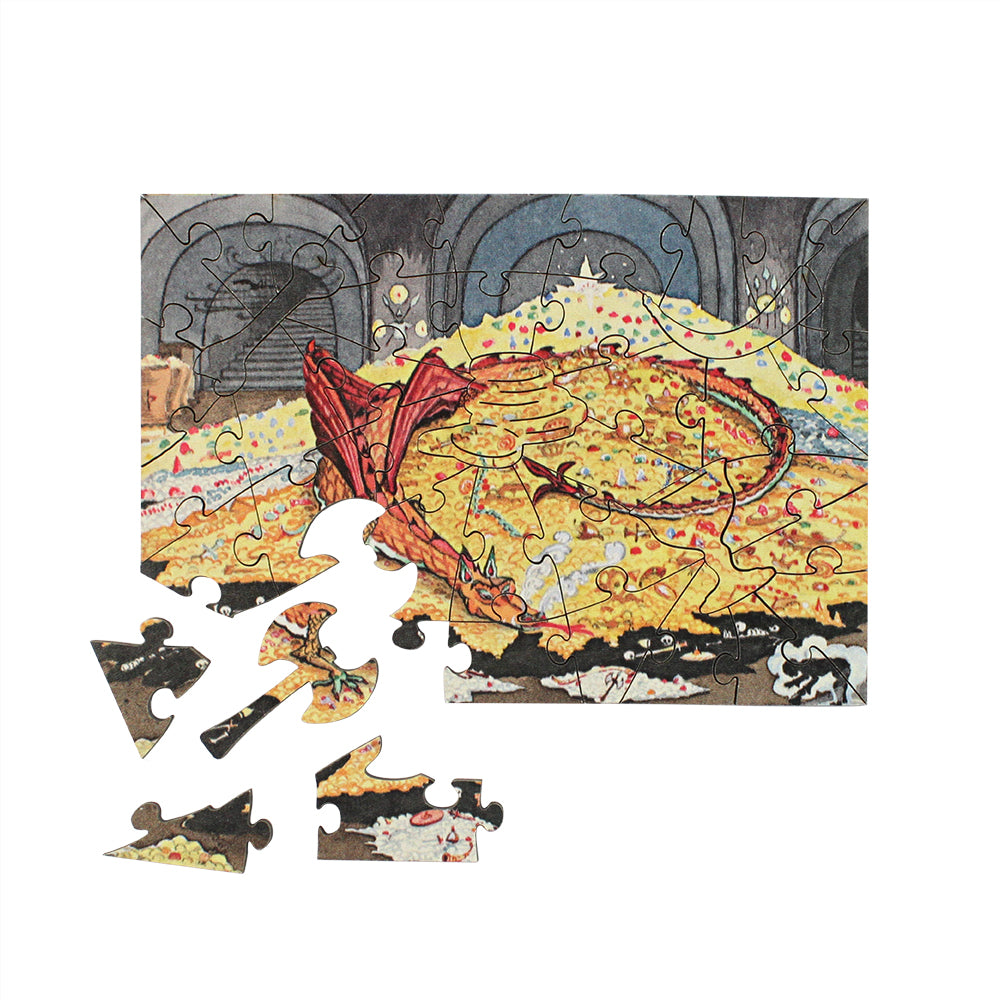 Conversation with Smaug Mini Jigsaw Puzzle