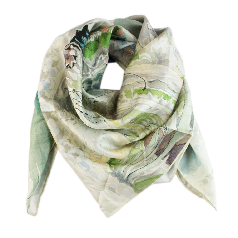 The Gardens of the Merking's Palace Silk Scarf
