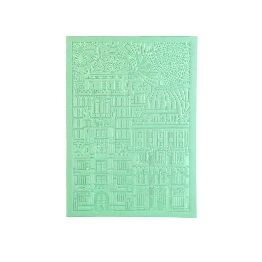 Bodleian Illustration Mint A6 Debossed Notebook
