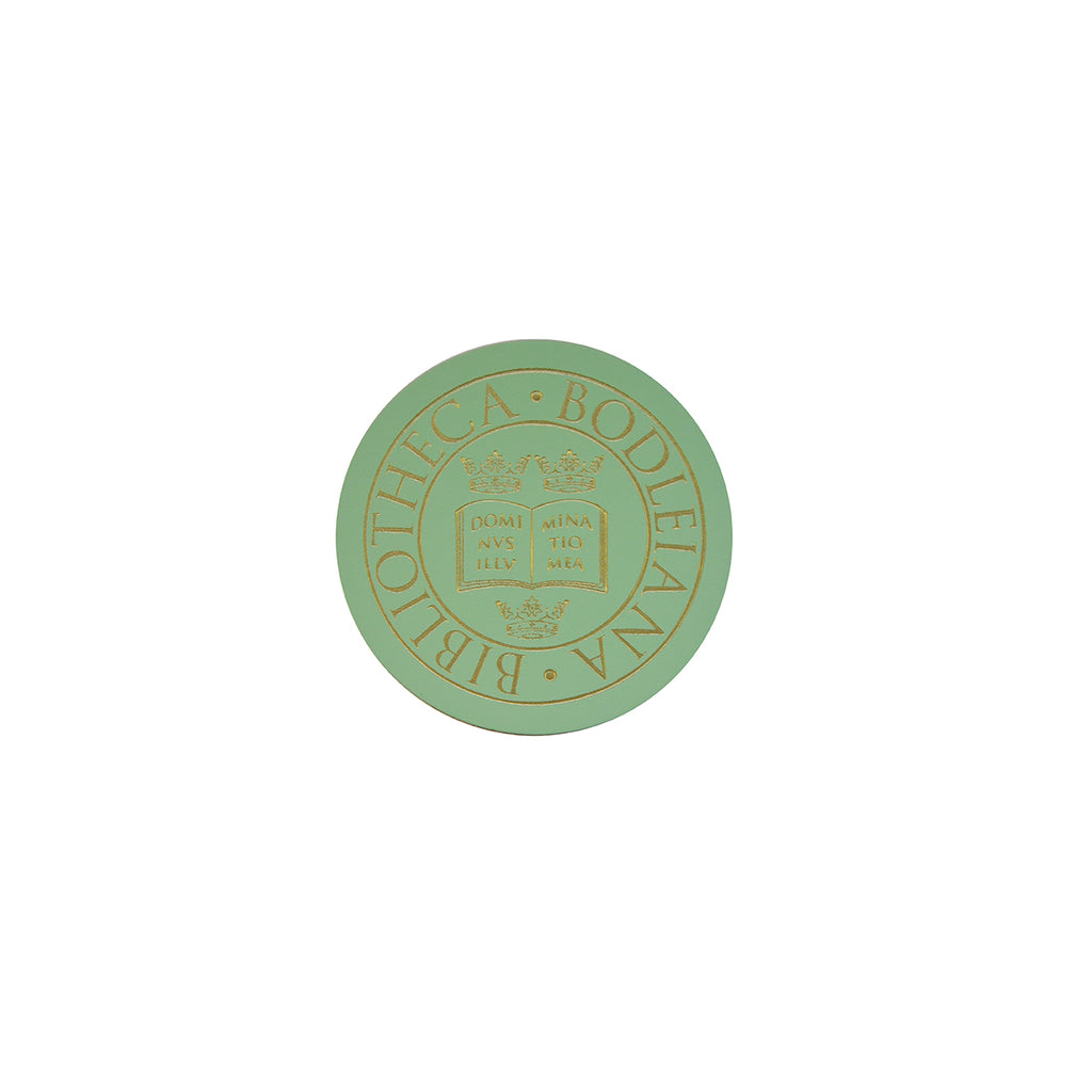 Library Stamp Leather Coaster - Peppermint