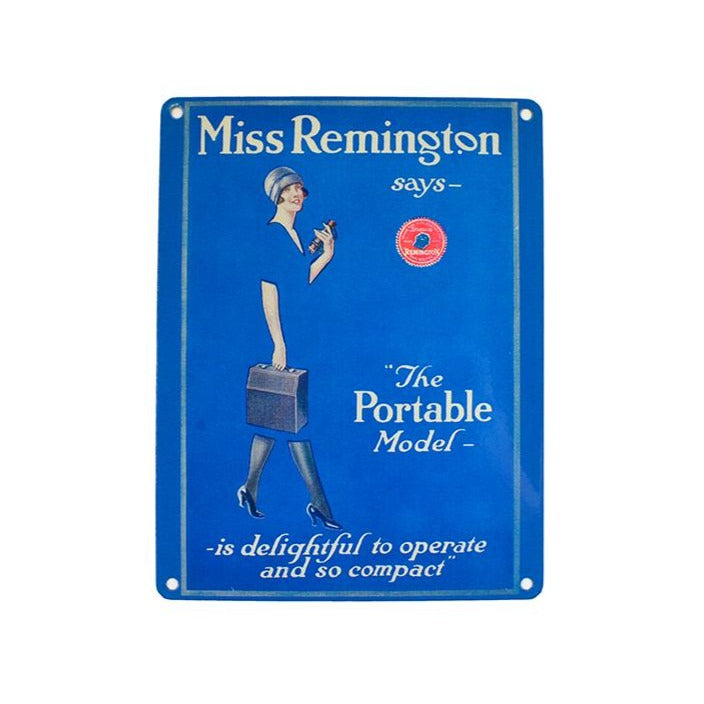 Miss Remington Metal Sign