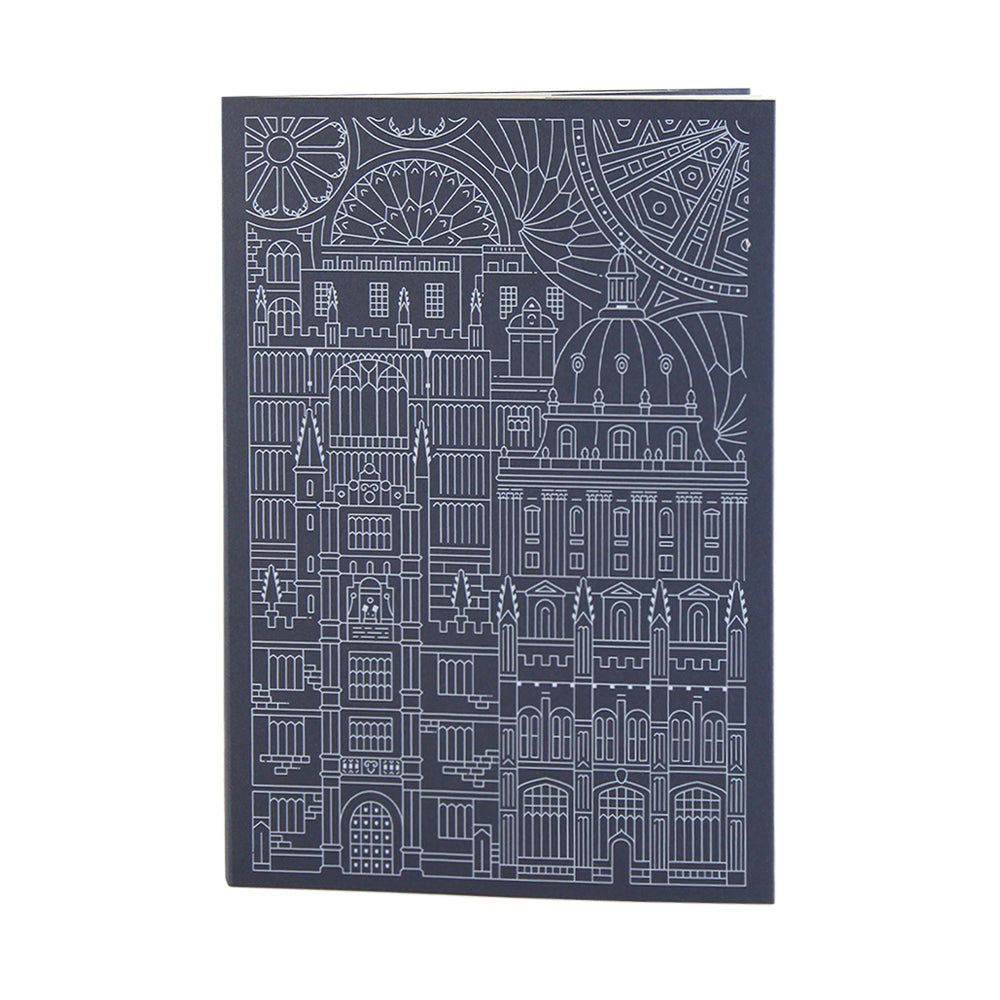 Bodleian Illustration Navy A5 Notebook