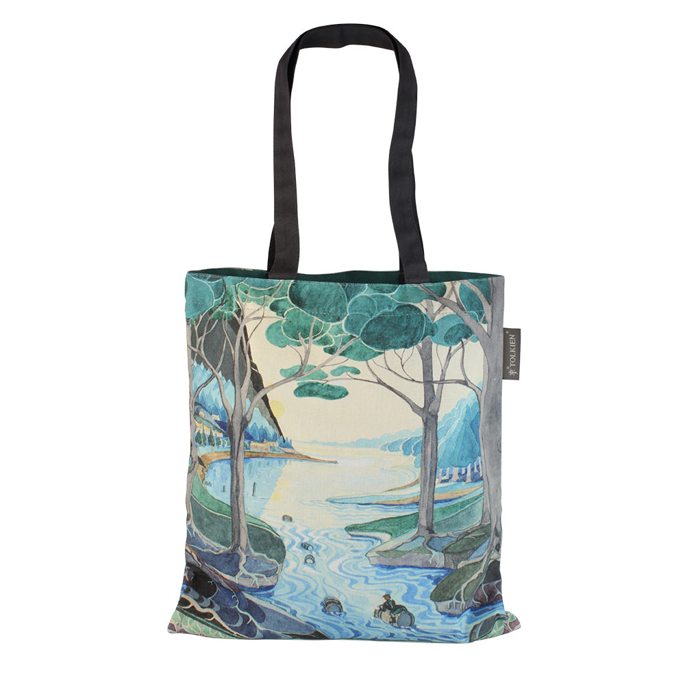Bilbo comes to the Huts of the Raft-elves Tote Bag