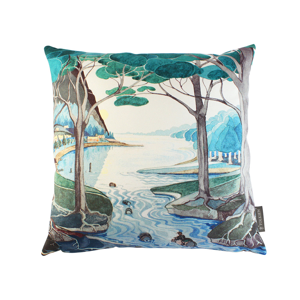 Bilbo comes to the Huts of the Raft-elves Cushion