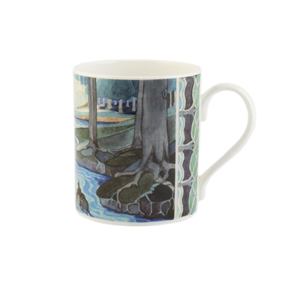 Bilbo comes to the Huts of the Raft-elves Mug