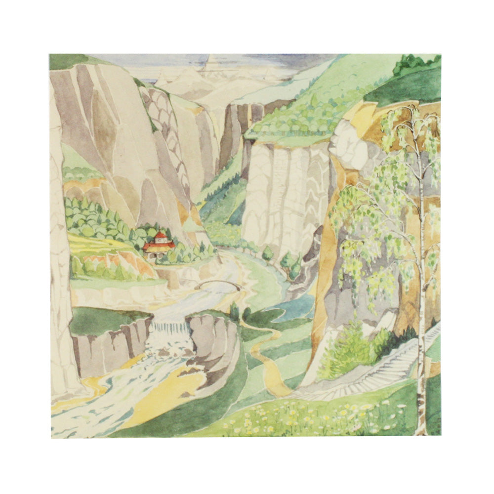 The fair valley of Rivendell Notecard