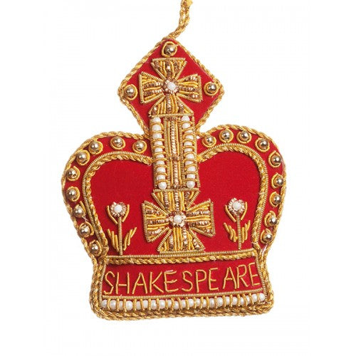 Shakespeare Crown Decoration