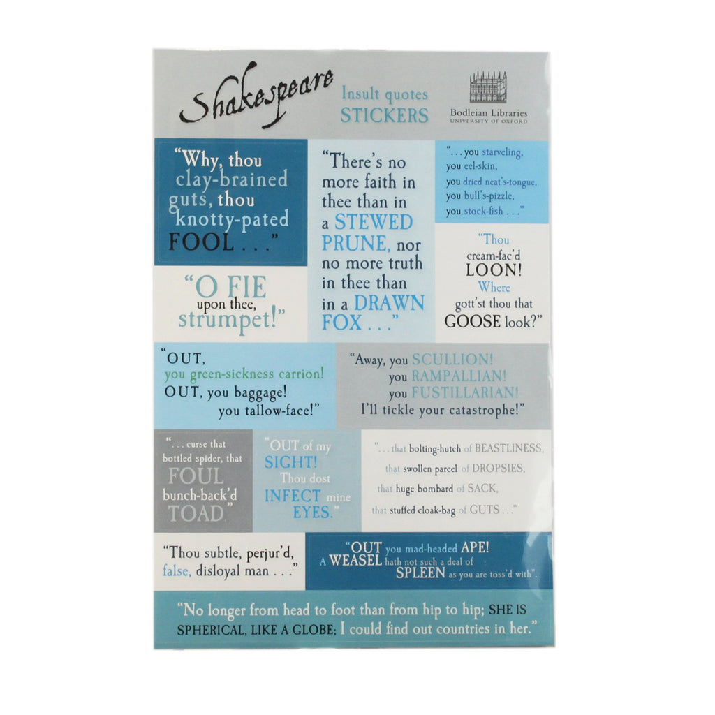 Shakespeare Quotes Sticker Set