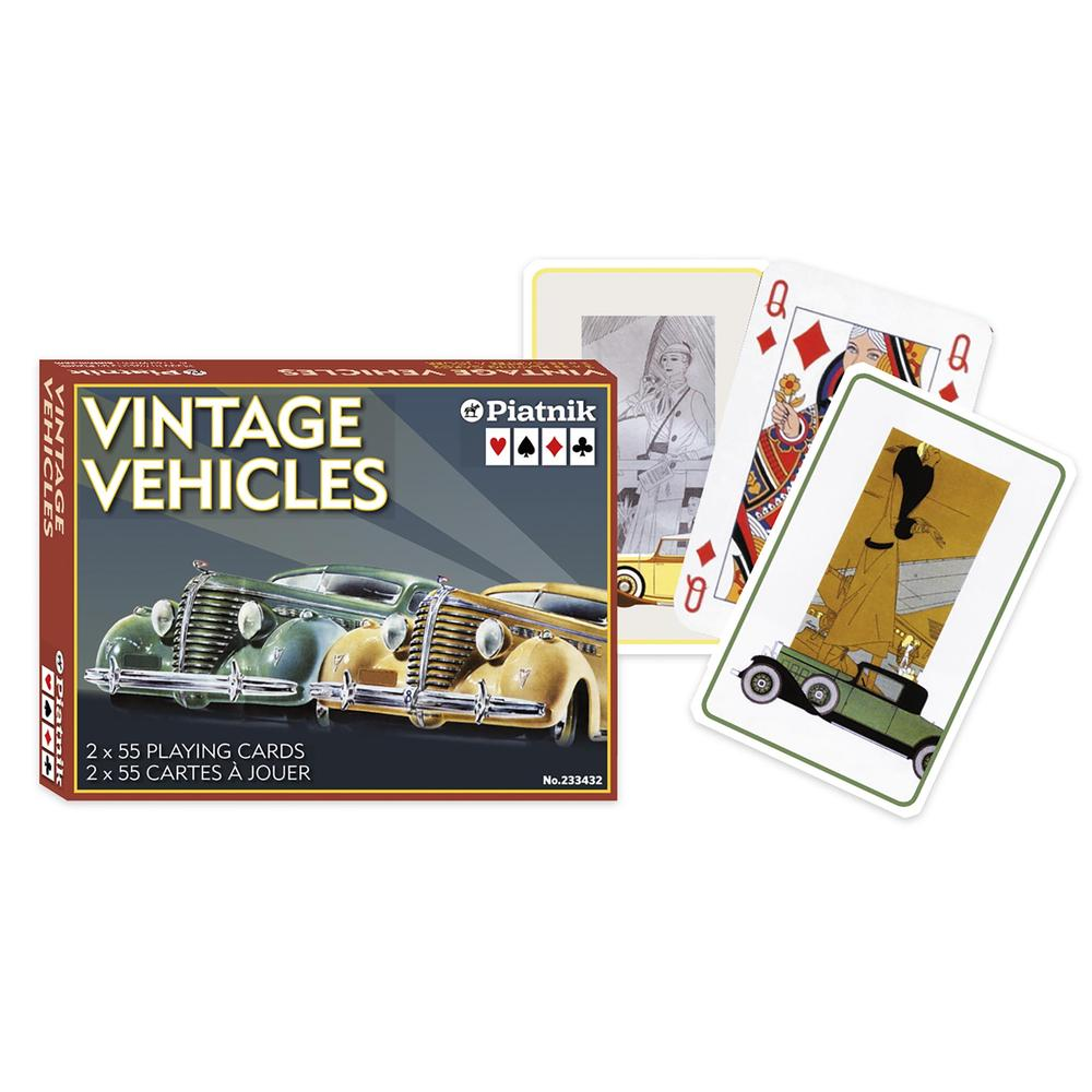 Vintage Vehicles Double Playing Card Set