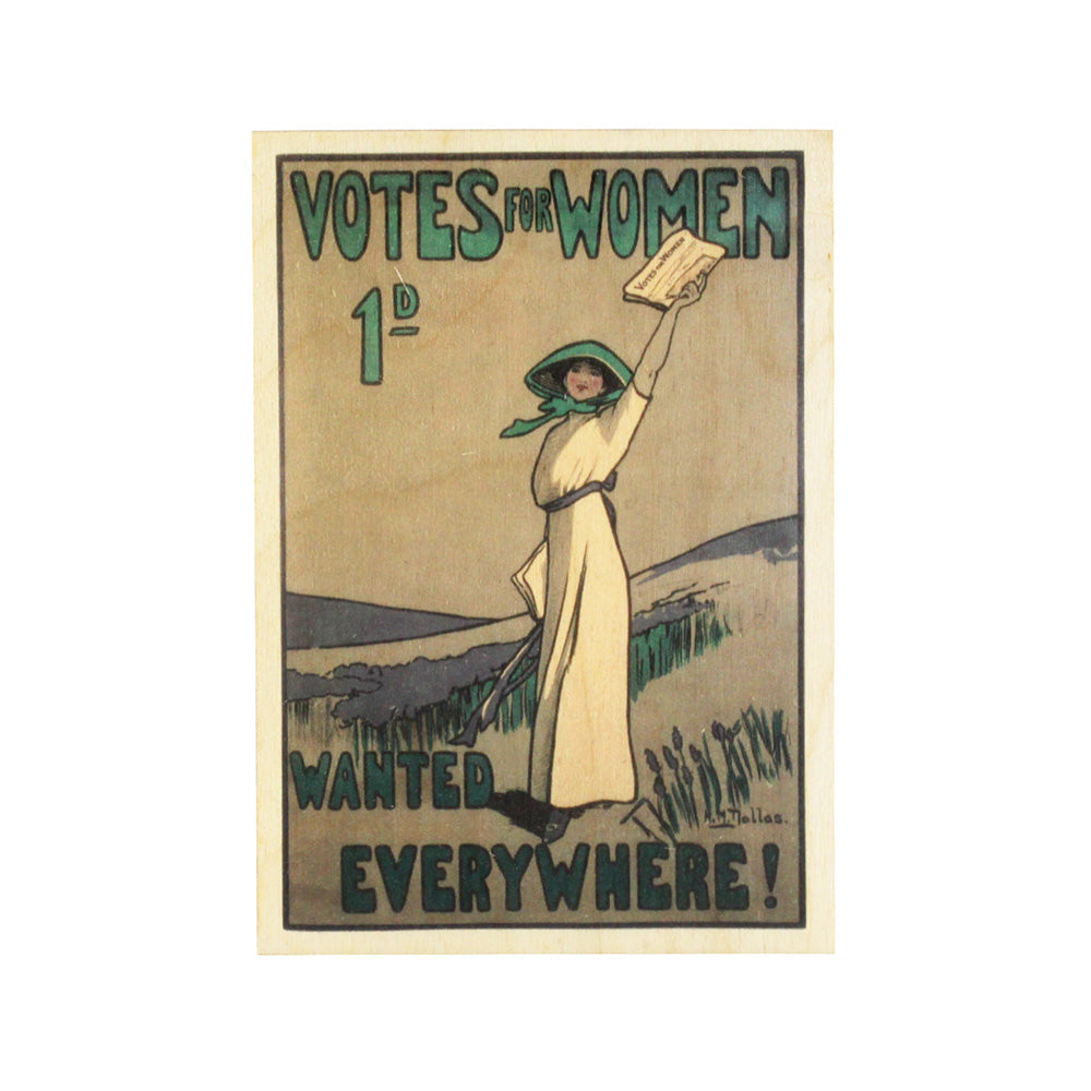 Votes for Women Wooden Postcard