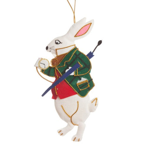 White Rabbit Christmas Decoration