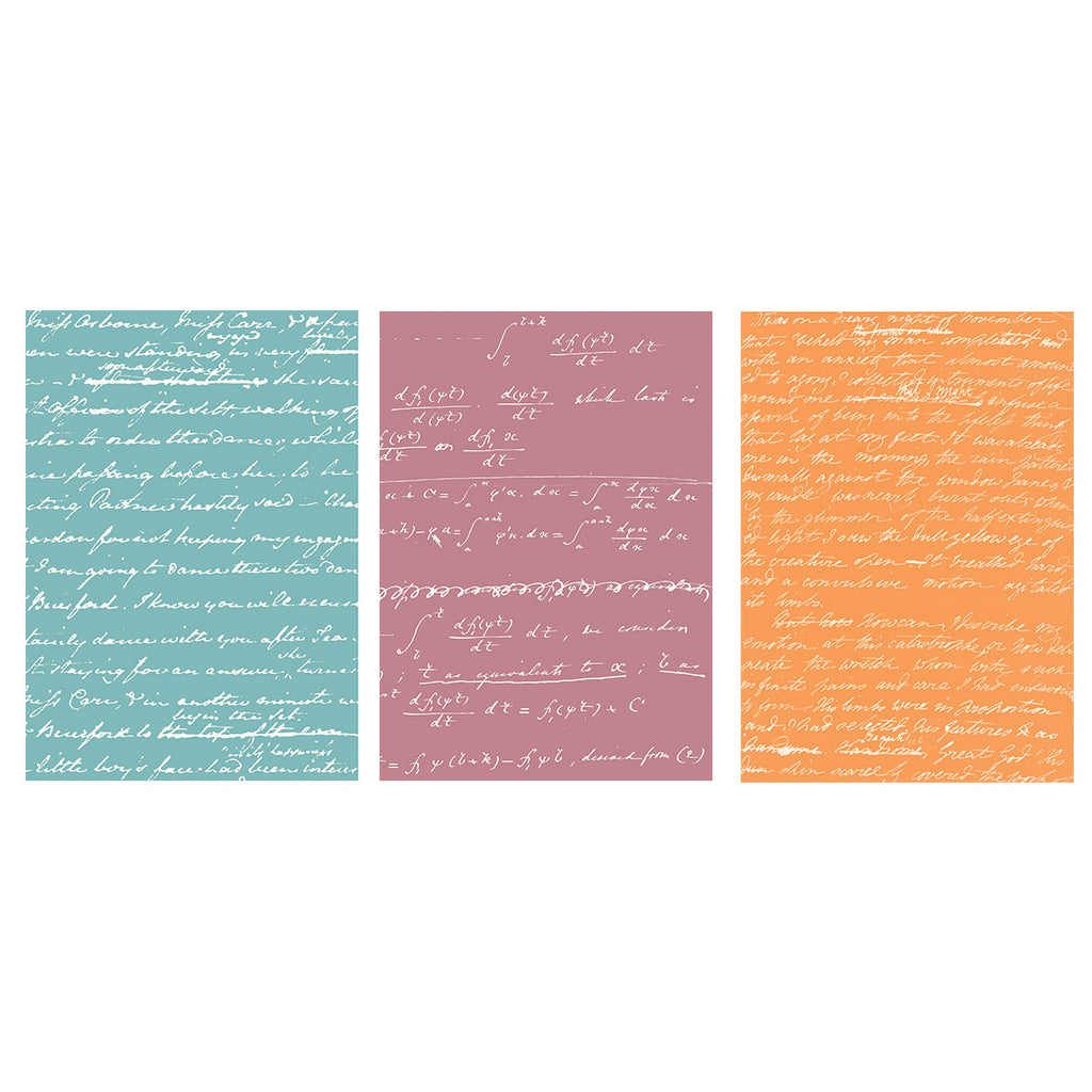 Jane Austen, Ada Lovelace, Mary Shelley Handwriting Notebook Set