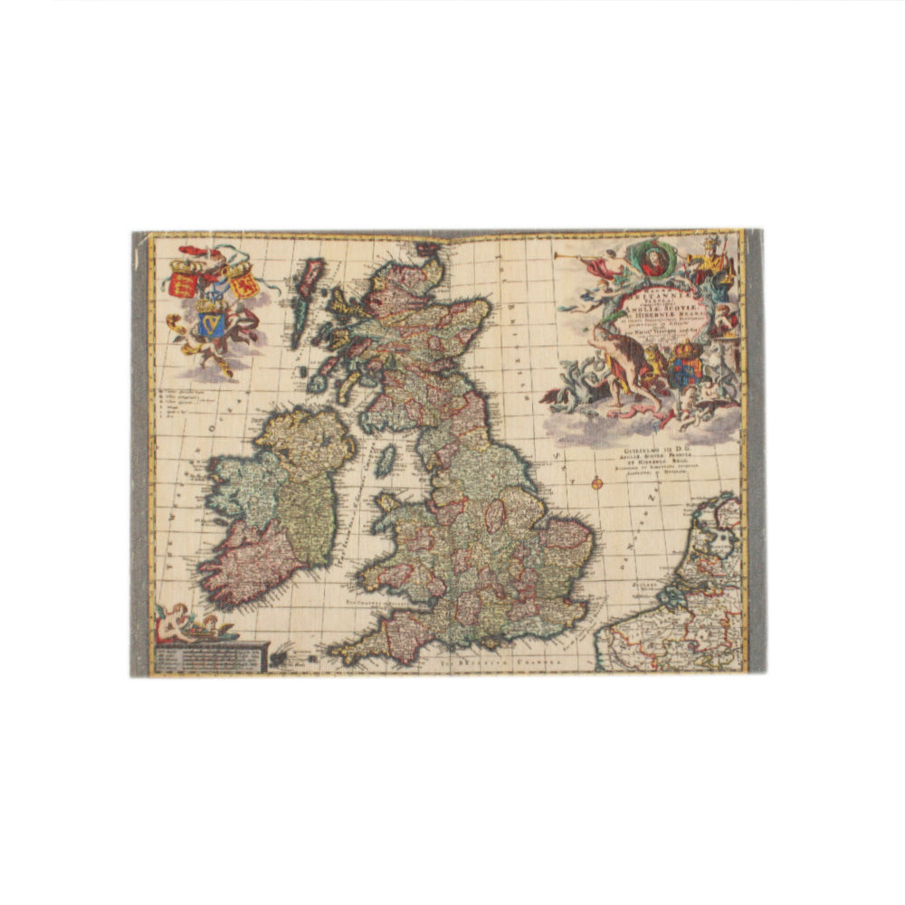 British Isles Wooden Postcard