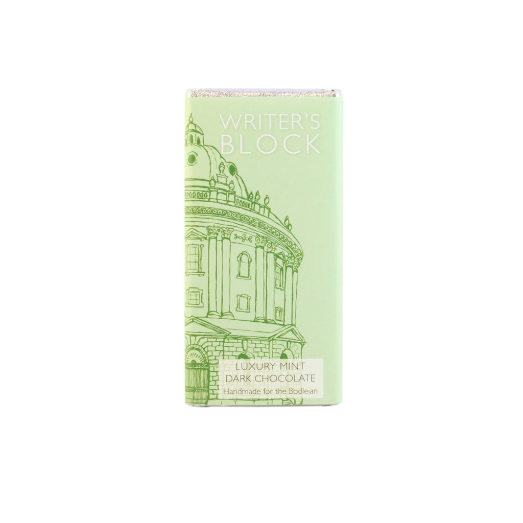 Writer's Block Luxury Mint Dark Chocolate Bar