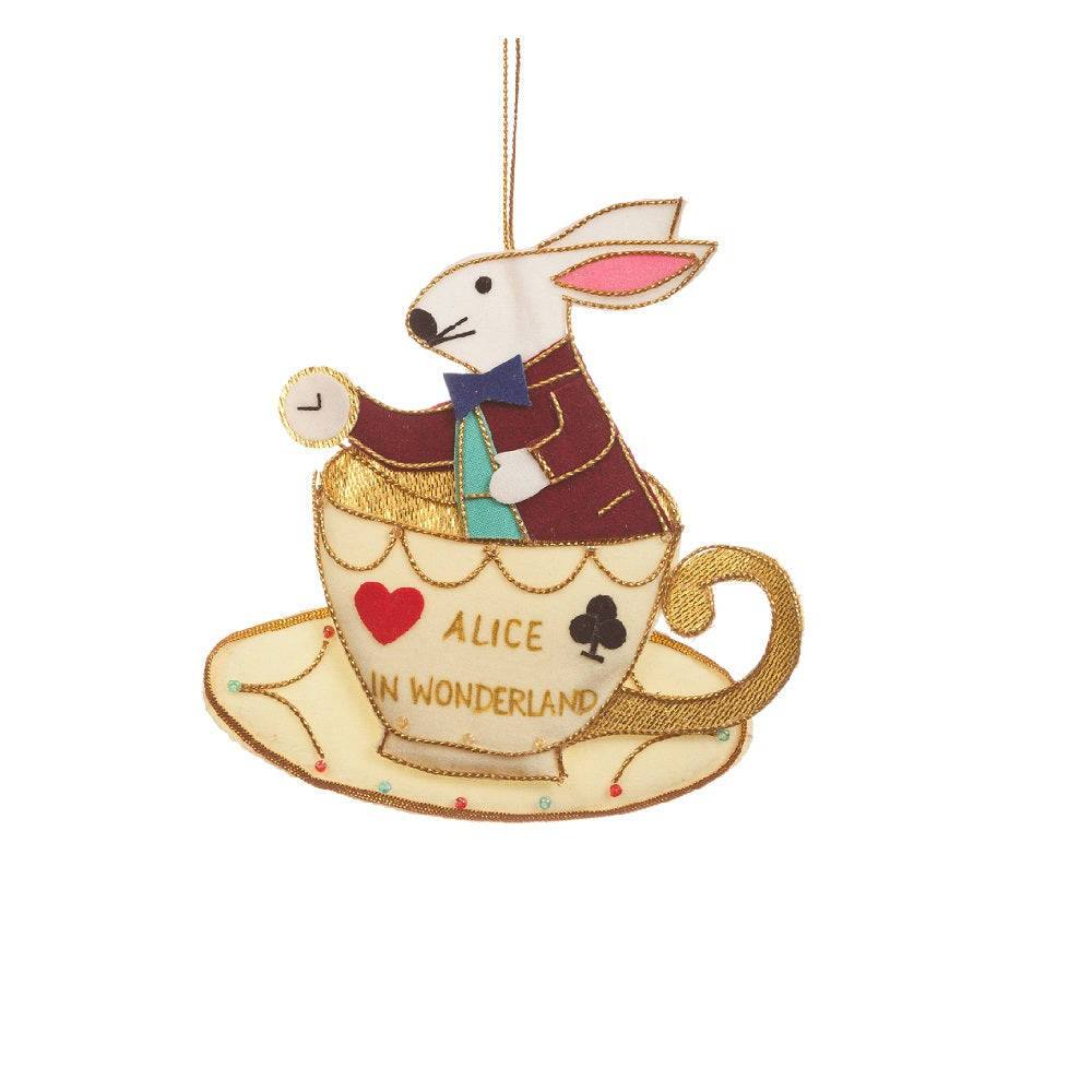 Rabbit in a Teacup Decoration