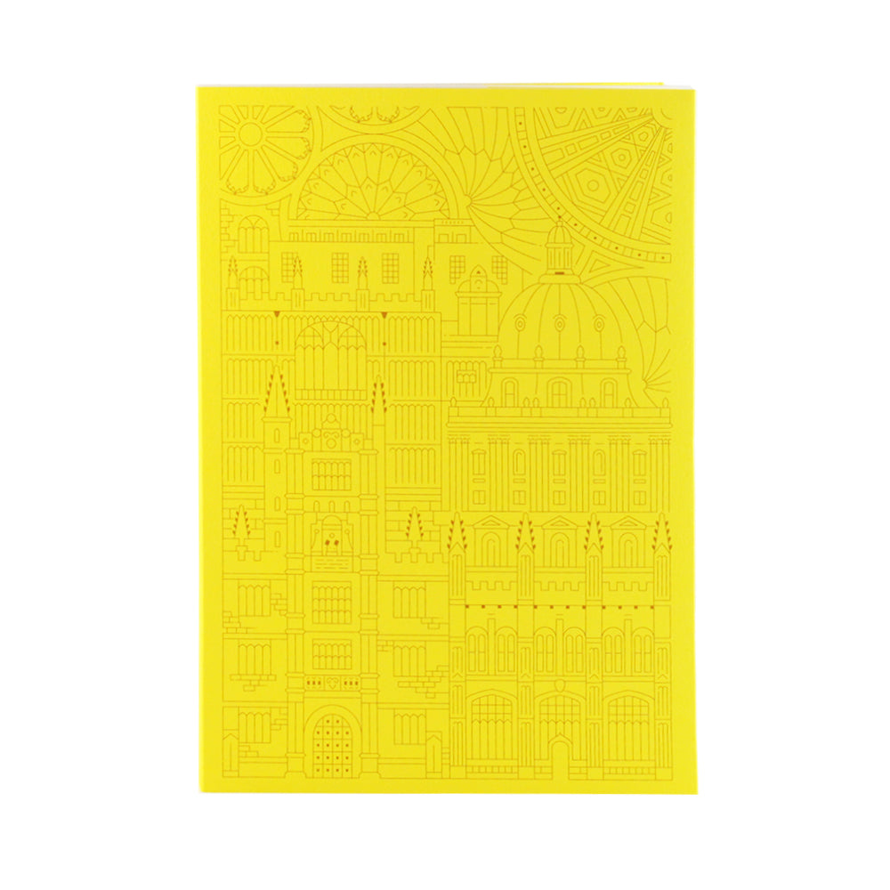 Bodleian Illustration Yellow A5 Notebook