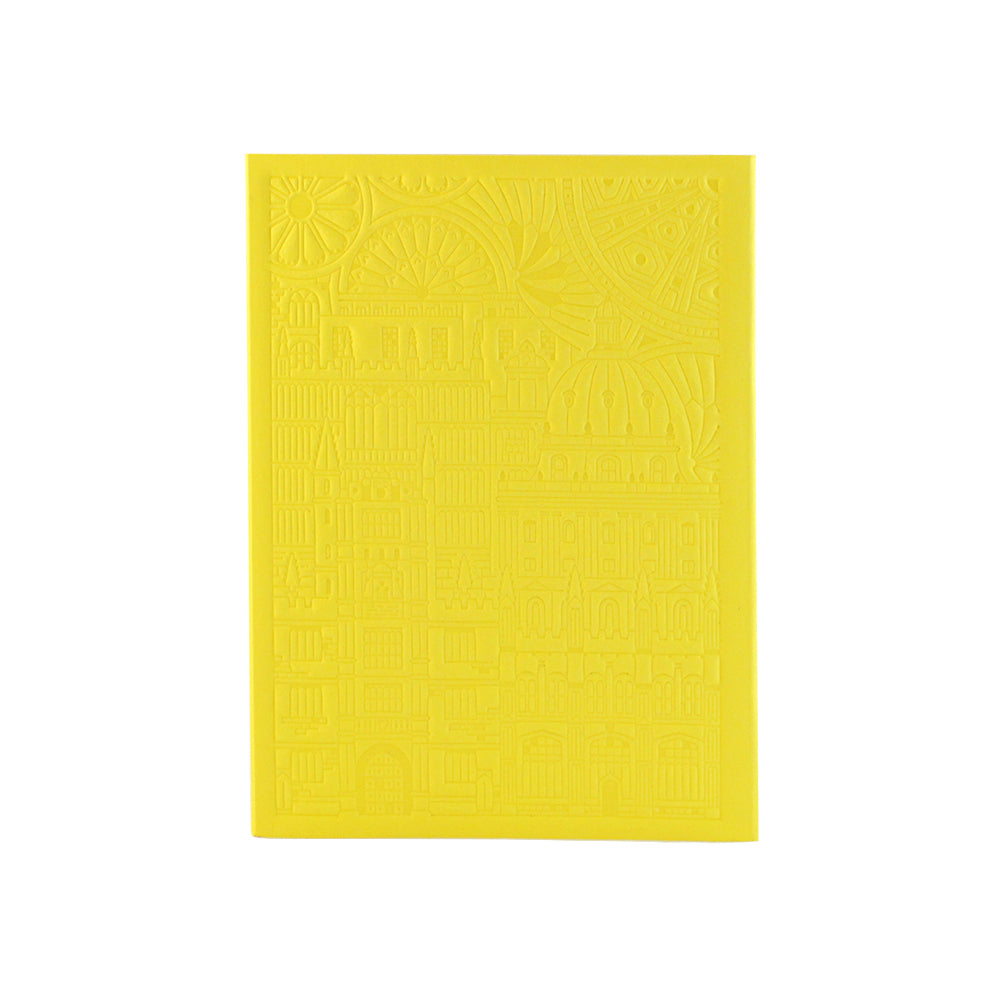 Bodleian Illustration Yellow A6 Debossed Notebook