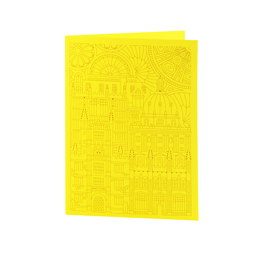 Bodleian Illustration Yellow Notecard